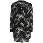 nümph Womens Judy Geometric Oversized Shirt - Caviar