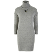 nümph Women's Roll Neck Jumper Dress - Light Grey