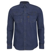 G-Star Men's Coban Long Sleeve Denim Shirt - Medium Wash Shatter Denim