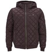 G-Star Men's Meefic Quilted Hooded Coat - Dark Fig Myrow Nylon