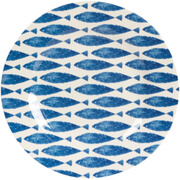 "Sieni Fishie on a Dishie Melamine 8"" Side Plate"