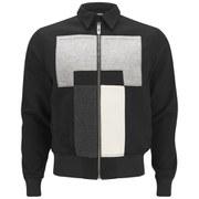 Han Kjobenhavn Men's Pattern Front Zipped Jacket - Black
