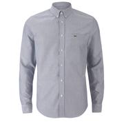 Lacoste Men's Oxford Long Sleeve Shirt - Navy