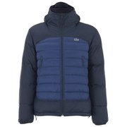 Lacoste Men's Colour Block Padded Jacket - Navy