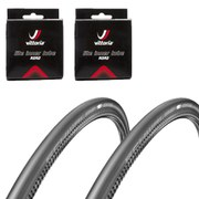 Schwalbe One Folding Clincher Tyre Twin Pack with 2 Free Tubes - Black 700 x 23mm