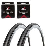 Vittoria Rubino Pro Slick Clincher Road Tyre Twin Pack with 2 Free Tubes - Black/Grey 700c x 23mm