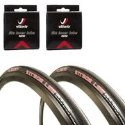 Clement Strada LGG Clincher Road Tyre Twin Pack with 2 Free Tubes 120 TPI - Black - 700c x 23mm