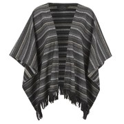 ONLY Womens Chris Wool Poncho - Black