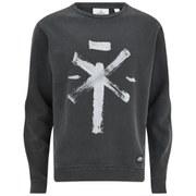 Cheap Monday Men's Per Tribal Cross Sweatshirt - Black