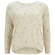 Great Plains Women's Starry Knit Jumper - Cream Tea