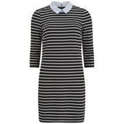 VILA Women's Tins Collar Mini Dress - Black