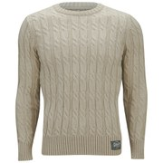 Superdry Men's Jacob Cable Knit Jumper - Cream
