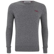 Superdry Men's Orange Label Crew Knit Jumper - Steel