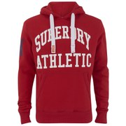 Superdry Men's Xl Athletic Hoody - Indiana Red