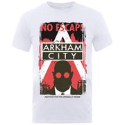 DC Comics Batman Arkham Men's T-Shirt - White