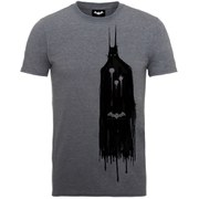 DC Comics Men's Batman Arkham Knight Ghost T-Shirt - Sport Grey