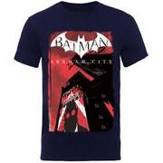 DC Comics Batman Arkham City Men's T-Shirt - Navy