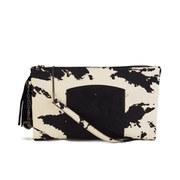 Nica Women's Stephanie Large Clutch Bag - Black/White/Snake Mix