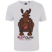 Xplicit Men's Randy Reindeer Christmas T-Shirt - White
