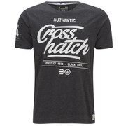 Crosshatch Men's Squirm T-Shirt - Charcoal Marl