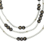 Venessa Arizaga Women's Say What? Necklace - Pearl