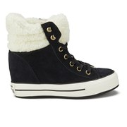 Converse Women's Chuck Taylor Platform Plus Collar Wedged Trainers - Black/Natural