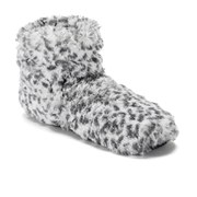 Leopard Print Hot Boots - Grey