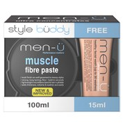 men-ü Men's Style Buddy Muscle Fibre Paste and Healthy Facial Wash Duo