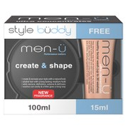 men-ü Men's Style Buddy Create and Shape and Healthy Facial Wash Duo