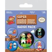 Nintendo Super Mario Bros Retro - Badge Pack