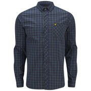Lyle & Scott Vintage Men's Checked Long Sleeve Shirt - New Navy