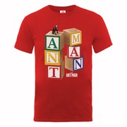 Marvel Men's Ant Man Blocks T-Shirt - Red
