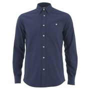 Knutsford x Tripl Stitched Men's Long Sleeve Oxford Shirt - Navy