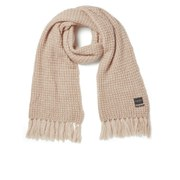 Maison Scotch Women's Knitted Fluffy Waffle Stitch Scarf - Pink