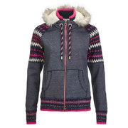 Superdry Women's Retro Knitted Panel Zip Through Hoody - Eclipse Navy Grit