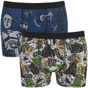 Star Wars Men's 2 Pack Boxers - Grey