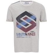 Smith & Jones Men's Stoneleigh T-Shirt - Off White Marl