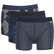 Jack & Jones Men's 3 Pack Pete Boxers - Sycamore/Navy Blazer/Navy Blazer