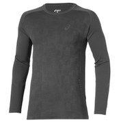 Asics Men's Long Sleeve Running Top - Dark Grey