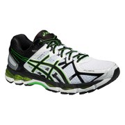 Asics Men's Gel Kayano 21 Running Shoes - White/Black/Flash Green