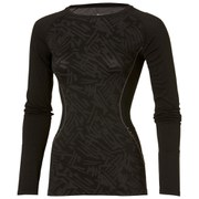 Asics Women's Long Sleeve Seamless Running Top - Performance Black