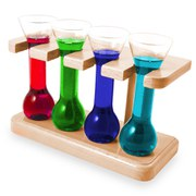 Mini Yard Shot Glasses with Stand (Set of 4)
