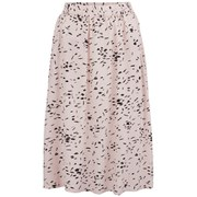 Ganni Womens Spring St Crepe Skirt - Rose Smoke Paint