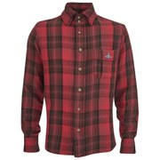 Vivienne Westwood Anglomania Men's Padded Details Long Sleeve Shirt - Red