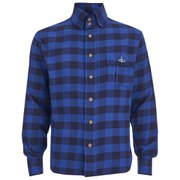 Vivienne Westwood Anglomania Men's Padded Details Long Sleeve Shirt - Blue/Black