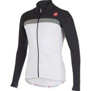 Castelli Criterium Long Sleeve Jersey - White/Grey/Reflex