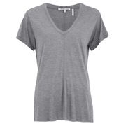 Helmut Lang Women's Deep V Neck T-Shirt - Heather Grey