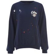 OBEY Clothing Women's Vintage Throwback Fleece - Blue