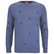 BOSS Orange Men's Wilcott Embroidered Sweater - Sky