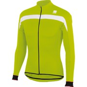 Sportful Pista Thermal Long Sleeve Jersey - Green/White